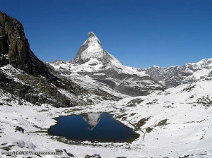 Il Riffelsee e il Cervino-Matterhorn, Zermatt, Svizzera. Author and Copyright Marco Ramerini