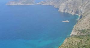 La costa a nord della spiaggia di Mirthos verso Assos, Cefalonia, Grecia. Author and Copyright Niccolò di Lalla