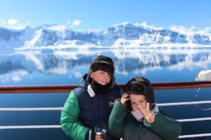 Andrea e Mattia in Antartide. Autore e Copyright Marco Ramerini