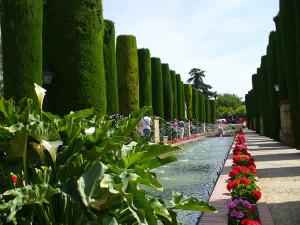 Il clima dell'Andalusia. Jardines del Alcázar, Cordoba, Andalusia, Spagna. Author and Copyright Liliana Ramerini