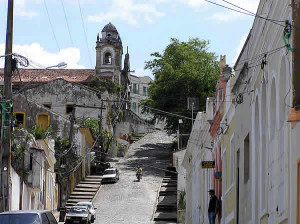 Una via di Olinda, Brasile. Author and Copyright Marco Ramerini
