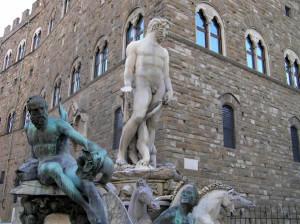 Biancone, Piazza della Signoria, Firenze. Author and Copyright Marco Ramerini