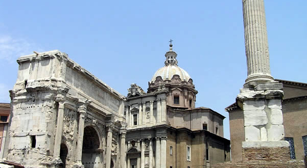 Fori Romani, Roma, Italia. Author and Copyright Marco Ramerini