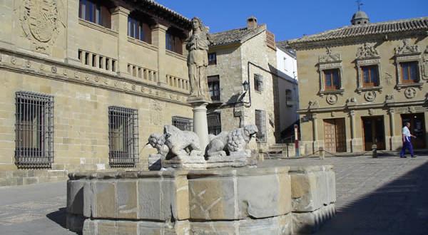 Fuente de los Leones, Baeza, Andalusia, Spagna. Author and Copyright Liliana Ramerini