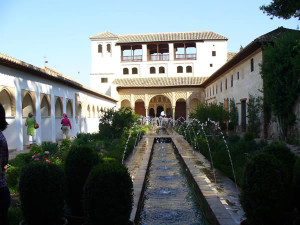 Generalife, Alhambra, Granada, Andalusia, Spagna... Author and Copyright Liliana Ramerini