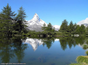 Grindjisee, Zermatt, Svizzera. Author and Copyright Marco Ramerini