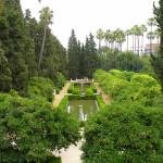 Jardines de los Reales Alcázares, Siviglia, Andalusia, Spagna. Author and Copyright Liliana Ramerini