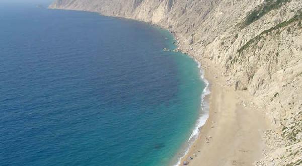La spiaggia di Platia Amos, Cefalonia, Grecia. Author and Copyright Niccolò di Lalla