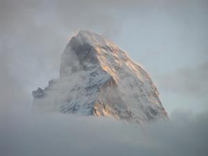 La vetta del Cervino vista da Zermatt, Svizzera. Author and Copyright Marco Ramerini