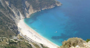 Myrtos (Mirthos), Cefalonia, Ionie, Grecia. Author and Copyright Niccolò di Lalla