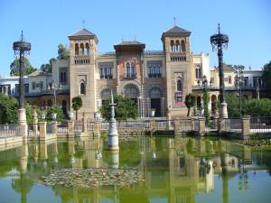Pabellón Mudéjar (Museo de Artes y Costumbres Populares), Plaza de América, Andalusia, Spagna. Author and Copyright Liliana Ramerini