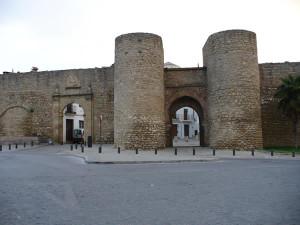 Puerta de Carlos V y puerta del Almocábar, Ronda, Andalusia, Spagna. Author and Copyright Liliana Ramerini
