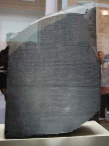 Stele di Rosetta, British Museum, Londra. Author and Copyright Niccolò di Lalla
