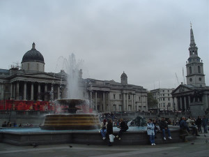 Trafalgar Square, Londra. Author and Copyright Niccolò di Lalla