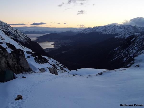 Acampando en cerro 5 hermanos, Terra del Fuoco, Argentina. Author and Copyright Guillermo Puliani