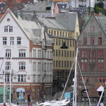 Bryggen, Bergen, Norvegia. Author and Copyright Marco Ramerini.,.