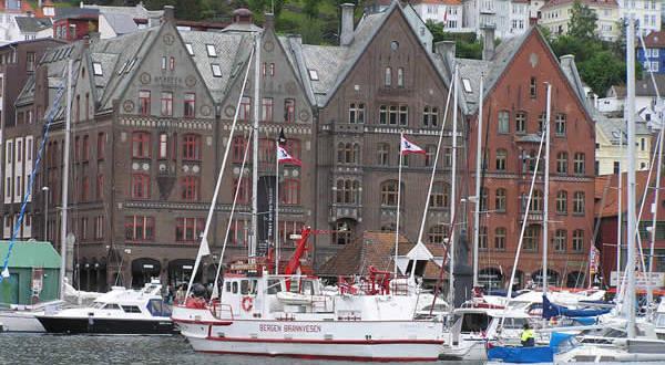 Bryggen, Bergen, Norvegia. Author and Copyright Marco Ramerini