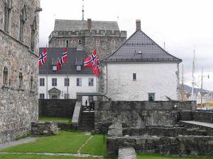 Kommandantboligen (Residenza del Comandante), Fortezza di Bergen (Bergenhus Festning). Author and Copyright Marco Ramerini