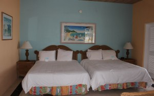 L'interno di un Two-Bedroom Beachfront Bungalow, Cape Santa Maria Beach Resort, Long Island, Bahamas. Autore e Copyright Marco Ramerini