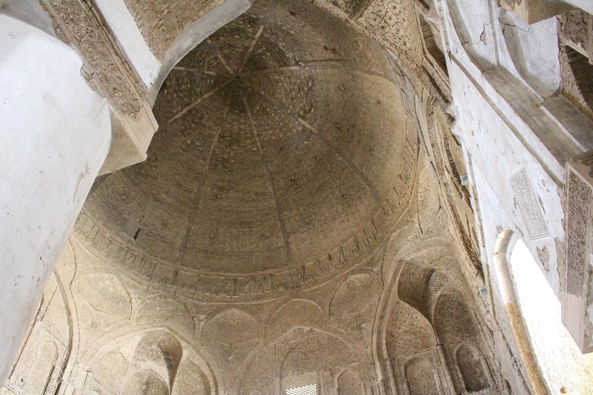La cupola Nezam al-Molk, Moschea del Venerdì (Moschea Jāmeh), Isfahan, Iran. Autore e Copyright Marco Ramerini