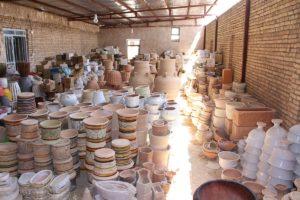 Laboratorio di ceramica, Meybod, Iran. Autore e Copyright Marco Ramerini
