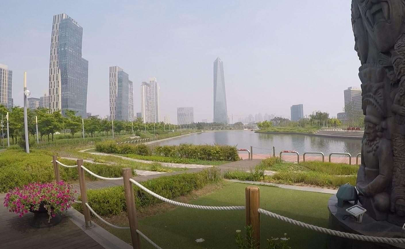 Il nostro tour gratuito: Songdo Central Park, Corea del Sud. Autore e Copyright Marco Ramerini.