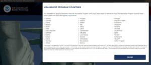 1 ESTA. Paesi ammessi