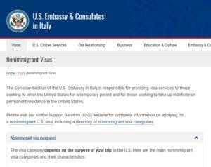 2 Visto Stati Uniti d'America. Scelta del tipo di visto