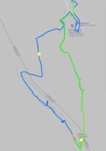 Mappa del sentiero per le grotte di Davit Gareja