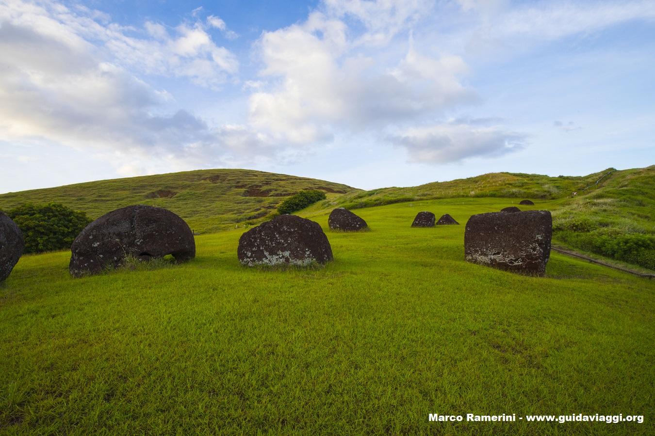 Puna Pau, Isola di Pasqua, Cile. Autore e Copyright Marco Ramerini,