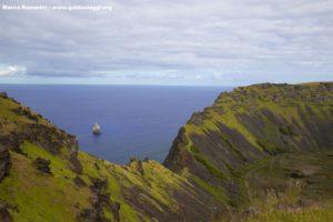 Rano Kau, Isola di Pasqua, Cile. Autore e Copyright Marco Ramerini..