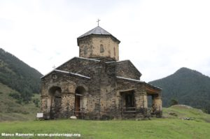 Chiesa, Shenakho, Tusheti, Georgia. Autore e Copyright Marco Ramerini