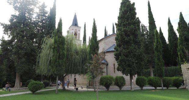 Convento di Bodbe, Sighnaghi, Georgia. Autore e Copyright Marco Ramerini