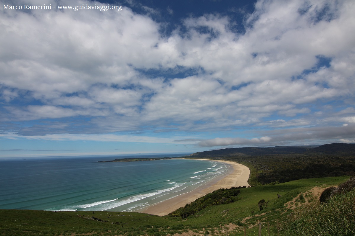 Tautuku Beach, Catlins, Nuova Zelanda. Autore e Copyright Marco Ramerini