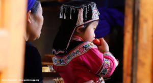Bambina, Qingkou, Yuanyang, Yunnan, Cina. Autore e Copyright Marco Ramerini...
