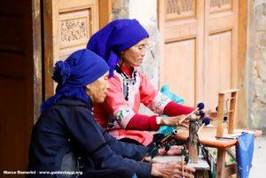 Donne, Qingkou, Yuanyang, Yunnan, Cina. Autore e Copyright Marco Ramerini...