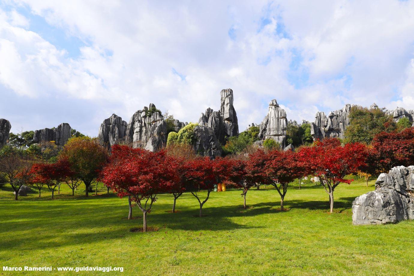 Foresta di Pietra, Shilin, Yunnan, Cina. Autore e Copyright Marco Ramerini