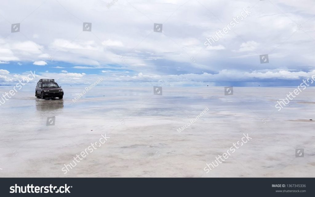 Il Salar de Uyuni allagato, Bolivia. Autore e Copyright Marco Ramerini