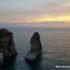 Tramonto sugli scogli del Piccione, Beirut, Libano. Autore e Copyright Marco Ramerini