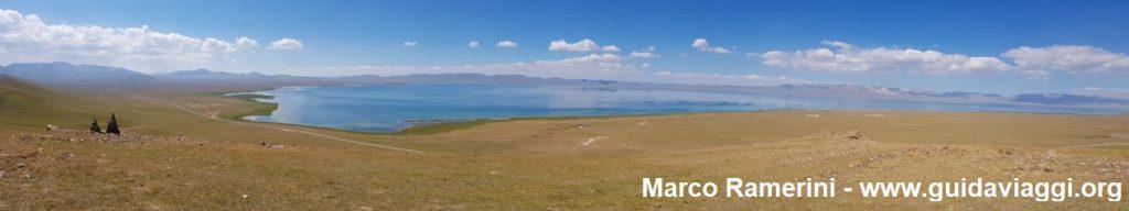 Viaggio tra le montagne dell'Asia Centrale. Il Lago Song Kol, Kirghizistan. Autore e Copyright Marco Ramerini