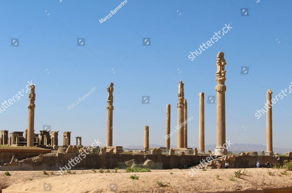 Colonnato di Persepoli. Rovine della capitale cerimoniale dell'Impero persiano (Impero achemenide), Iran. Autore e Copyright Marco Ramerini