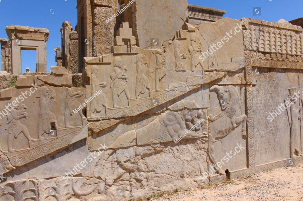 Iran. Il Tachara (Palazzo di Dario il Grande). Rovine della capitale cerimoniale dell'Impero achemenide. Autore e copyright Marco Ramerini