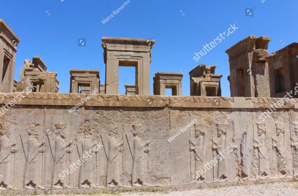 Persepoli, Iran. Il Tachara (Palazzo di Dario il Grande). Rovine della capitale cerimoniale dell'Impero achemenide. Autore e copyright Marco Ramerini.