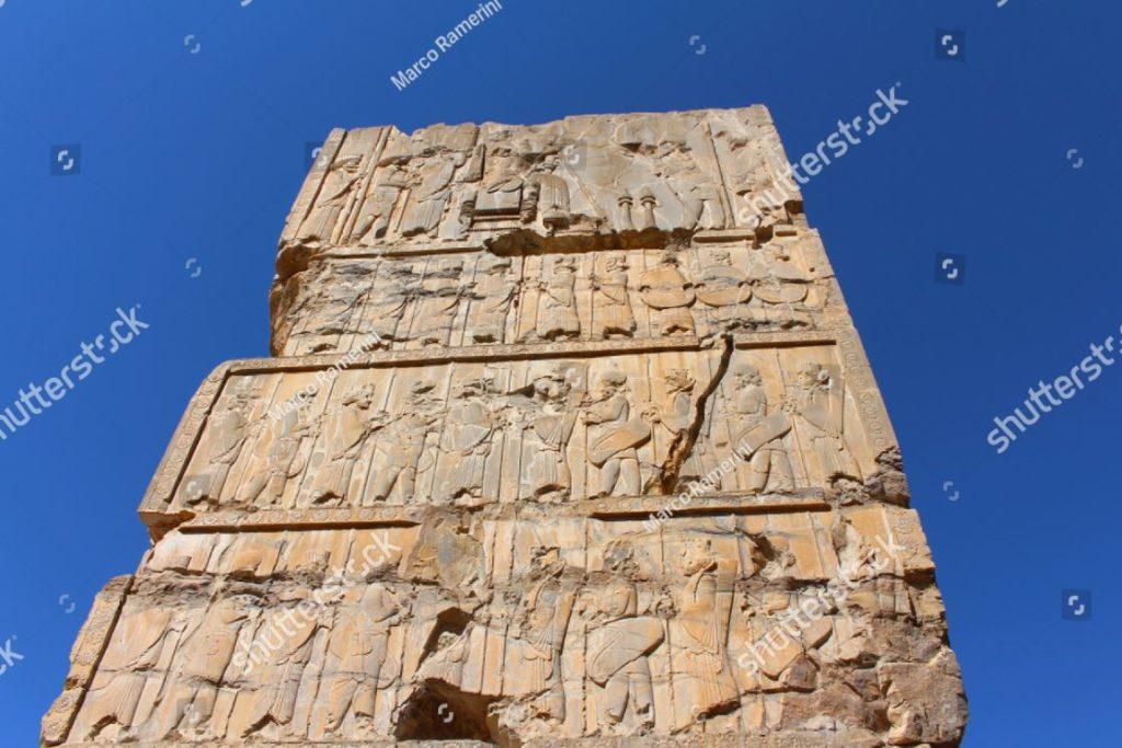Persepoli, Iran. Palazzo delle 100 colonne. Persepoli, la capitale cerimoniale dell'Impero persiano (Impero achemenide). Autore e copyright Marco Ramerini,.