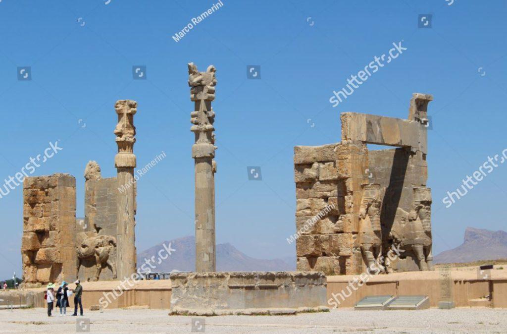 Porta di tutte le Nazioni. Rovine della capitale cerimoniale dell'Impero persiano (Impero achemenide), Iran. Autore e Copyright Marco Ramerini.